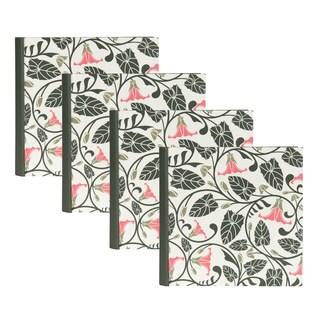DesignOvation Floral Vine Photo Album (Pack of 4)