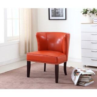 Best Master Furniture Orange Accent Chair (Set of 2)