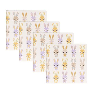 DesignOvation Baby Bunnies Multicolored Paper/Plastic Photo Album (Set of 4)