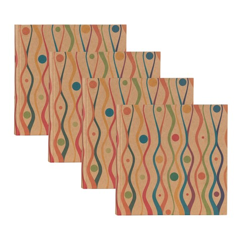 DesignOvation Fiesta Paper Wrapped Holds 200 4x6 Photos Photo Album (Pack of 4)