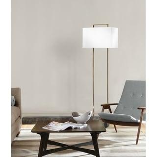 Stratum Weathered Brass Floor Lamp