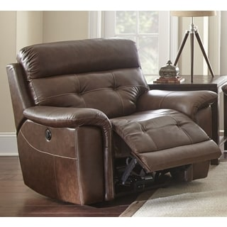 Olbia Top Grain Leather Power Recliner by Greyson Living