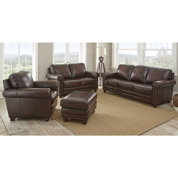 Shop Edinburgh 4 Piece Top Grain Leather Living Room Set By Greyson Living Free Shipping Today