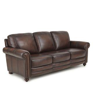 Edinburgh Top Grain Leather Sofa by Greyson Living