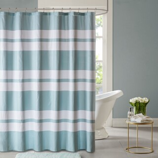 Madison Park Essentials Aria Embossed Printed Shower Curtain 2 Color Option