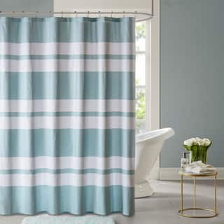 black and turquoise shower curtain. Madison Park Essentials Aria Embossed Printed Shower Curtain 2 Color Option  Black Curtains For Less Overstock com Vibrant Fabric