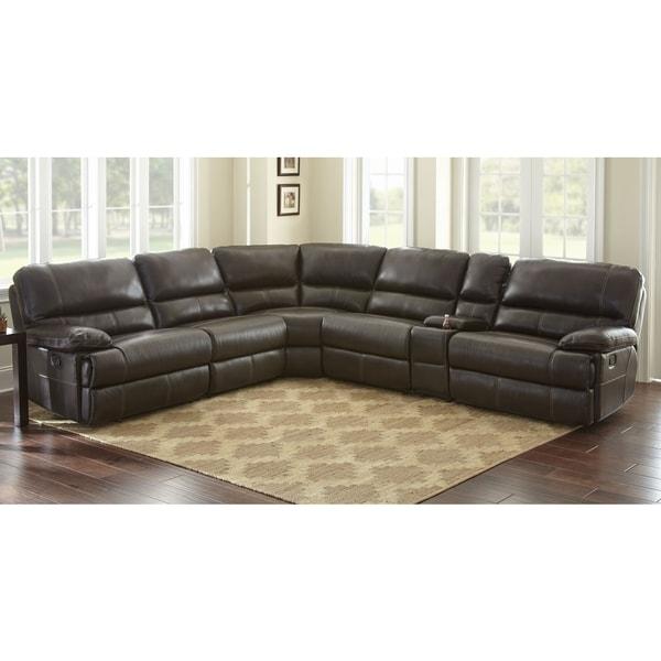 Shop Rimini Top Grain Leather Sectional Sofa By Greyson