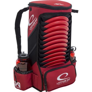 Latitude 64 Easy-Go Red Backpack Disc Golf Bag