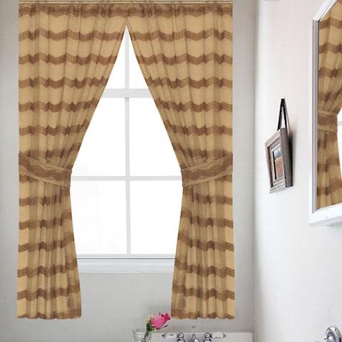 Chateau Bronze 54-Inch Window Curtain Panel (Pair) - 36X54