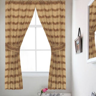 Chateau Bronze 54-Inch Window Curtain Panel (Pair)