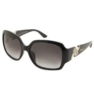 Ferragamo SF642SR-001 Black Plastic Women's Sunglasses