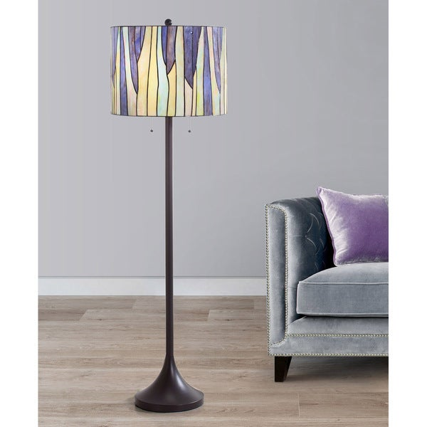HomeTREND Barossa Tiffany Multi-colored Art Glass/ Metal Floor Lamp