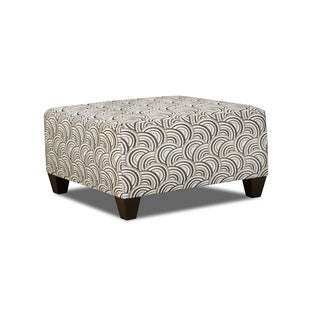 Simmons Upholstery Basta Silver Cocktail Ottoman
