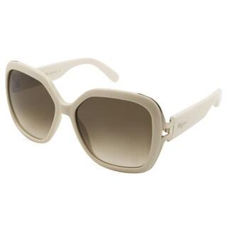 Ferragamo SF781S-103 White Plastic Women's Sunglasses