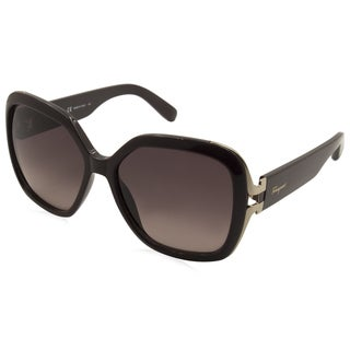 Ferragamo SF781S-604 Brown Plastic Women's Sunglasses