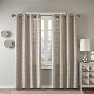 Madison Park Cabot Geo Semi Sheer Jacquard Window Curtain Panel