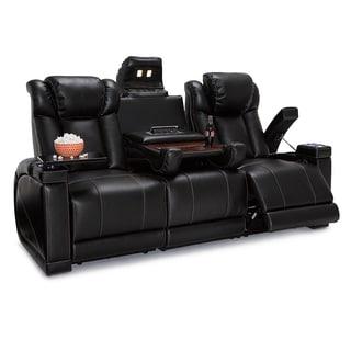 Lane Sigma Leather Gel Home Theater Media Sofa Power Recline