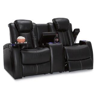 Lane Omega Leather Gel Home Theater Media Sofa Power Recline