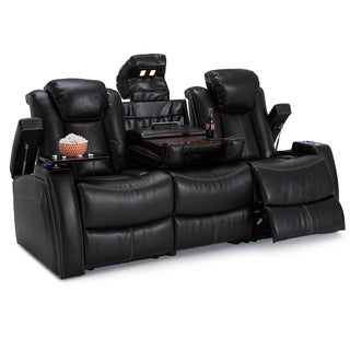 Lane Omega Leather Gel Home Theater Media Sofa Power Recline