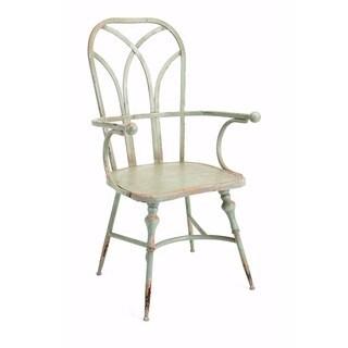 Georgette Metal White Arm Chair