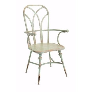 Georgette Metal White Arm Chair