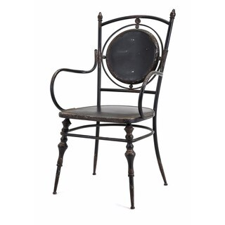Beric Metal Black Arm Chair