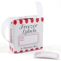 Red Border Freezer Labels (Case of 100)