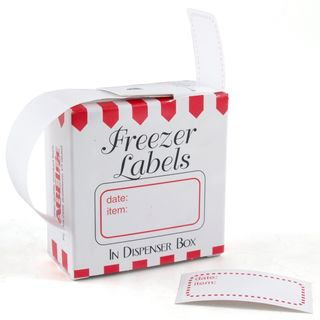 Red Border Freezer Labels (Case of 100)
