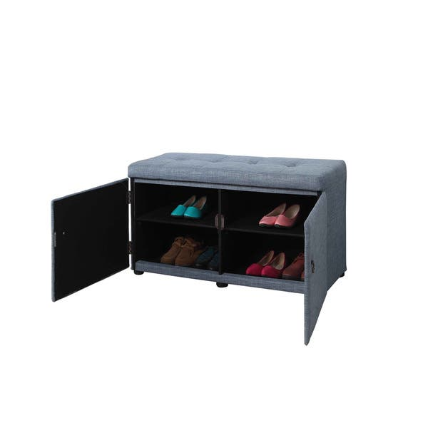 Strange Shop 18 Inch Upholstered Tufted Shoe Storage Bench On Sale Squirreltailoven Fun Painted Chair Ideas Images Squirreltailovenorg