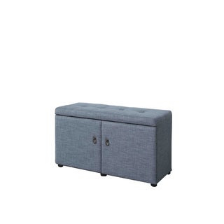 18-inch Upholstered Tufted Shoe Storage Bench