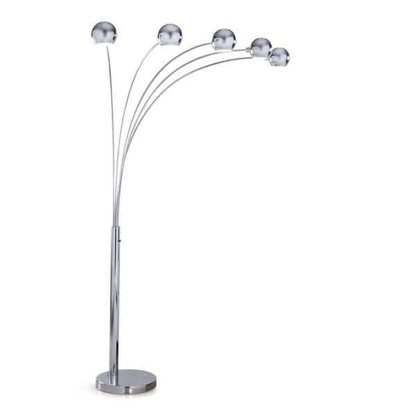 Orbs 5 Light Dimmable Arch Floor Lamp