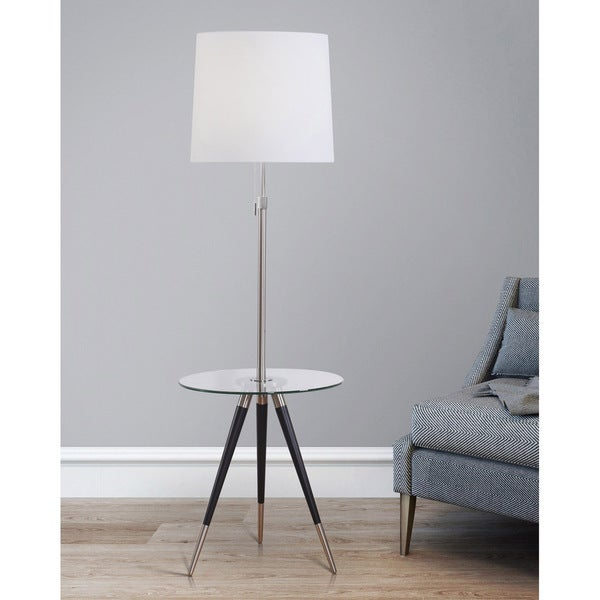 HomeTREND Premier Tripod Glass Table Floor Lamp