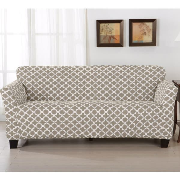 Shop Home Fashion Designs Brenna Collection Stretch Form Fitted Sofa Slipcover Overstock 14637980
