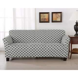 Brenna Collection Trellis Print Stretch Form-Fitted Sofa Slip Cover|https://ak1.ostkcdn.com/images/products/14637980/P21177494.jpg?impolicy=medium