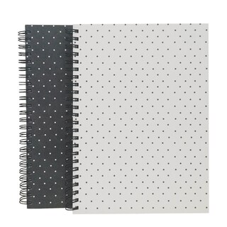 Root and Seed Black/White Polka Dot 80-sheet Hardcover Notebooks (2 ct)