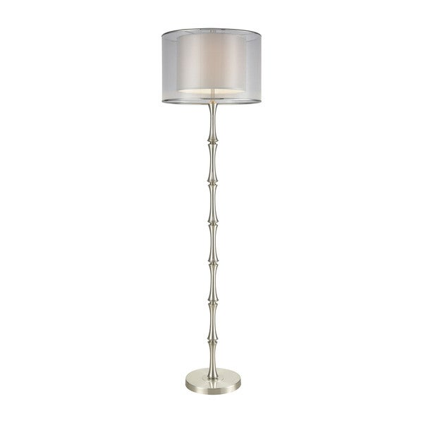 Diamond Lighting Palais Princier Satin Nickel Floor Lamp