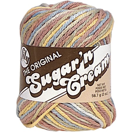 Sugar'n Cream Yarn - Ombres-Potpourri Print