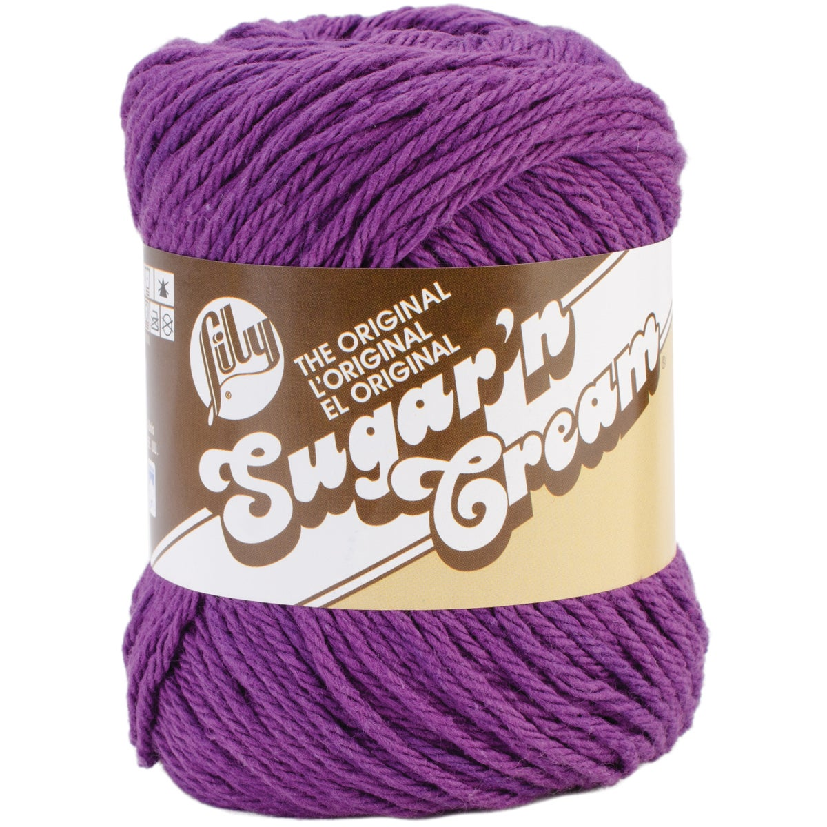 Sugar'n Cream Yarn - Solids-Black Currant (Black Currant)...