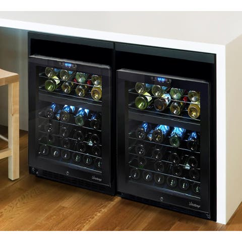 Element by Vinotemp 46-bottle Dual-zone Wine Cooler with Seamless Glass Door