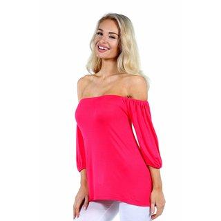 24/7 Comfort Apparel Sweetheart Off Shoulder Tunic Top
