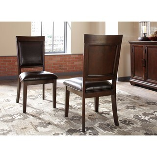 Signature Design by Ashley Brown Shadyn Brown Dining Chair (Set of 2)