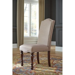 Signature Design by Ashley Brown Baxenburg Dining Upholstered Dining Chair (Set of 2)