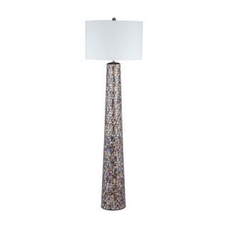 byzantion mosaic glass bronze finish floor lamp