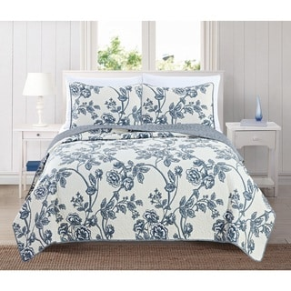 Home Fashion Designs Sharon Collection 3-Piece Printed Quilt Set