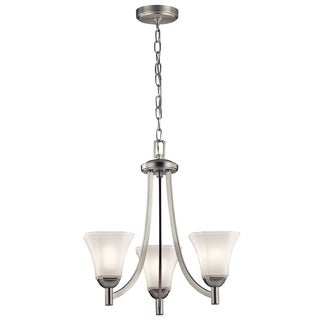 Kichler Lighting Serina Collection 3-light Brushed Nickel Chandelier