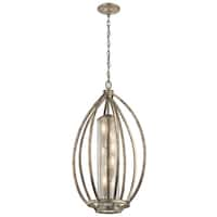 Kichler Lighting Savanna Collection 4-light Sterling Gold Foyer Pendant - sterling gold