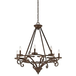 Kichler Lighting Caldella Collection 8-light Aged Bronze Chandelier