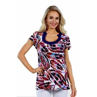 24/7 Comfort Apparel Summer Trails Tunic Top
