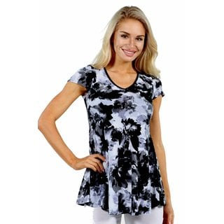 24/7 Comfort Apparel Moonlight Garden Top