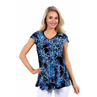 24/7 Comfort Apparel Blue Night Rayon from Bamboo Tunic Top